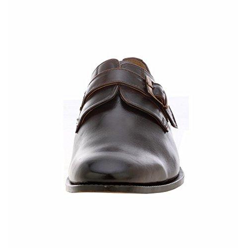 Frihet Mens Handgjorda Läder Klassiska Loafers Munk Spänne Finskor Brun