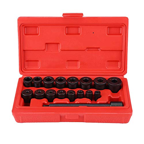 Clutch Centering Tool, 17pcs Centring Mandrel Clutch Tool Kit Clutch Installing Tool Coupling Spine Set ()