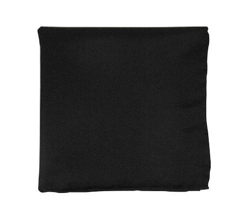 The Tie Bar 100% Woven Silk Black Solid Twill Pocket Square
