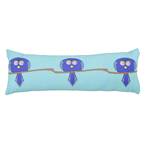 UOOPOO Blue Cartoon Bird Polyester Body Pillow Cover Square 20 x 54 Inches for Bed Print on Twin Sides