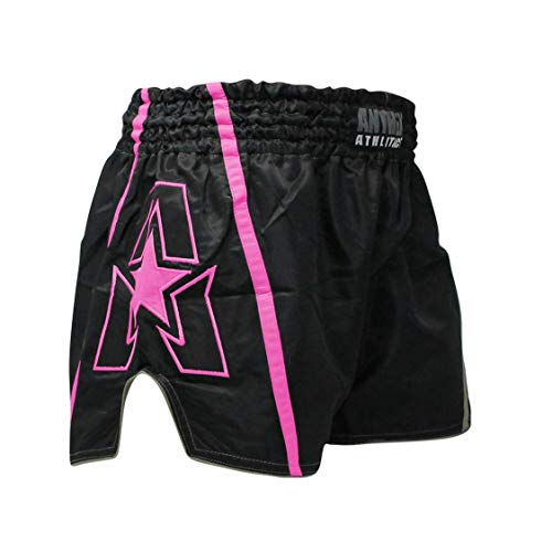 (Anthem Athletics Infinity Muay Thai Shorts - 20+ Styles - Kickboxing, Thai Boxing - Ghost Pink - Large)