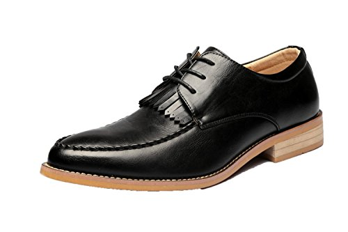 Occasionnels Petites Hommes Cuir Chaussures Rétro en Chaussures Black2 pour pour Hommes Chaussures Chaussures Angleterre DHFUD qxHz4wOE4