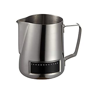 Milk Frothing Pitcher¬Coffee4u Stainless Steel Creamer Frothing Pitcher With Integrated Thermometer