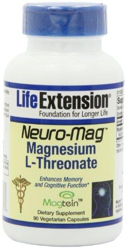 Life Extension Neuro-Mag magnésium L-Threonat Vegetarian Capsules, 90 comte