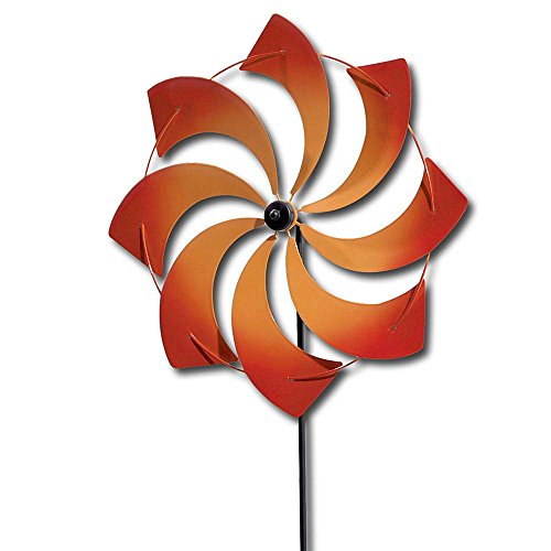 Wind Spinner Pinwheel (Bits and Pieces - Pinwheel - Wind Spinner - Two-tone Airbrushed Metal with Enamel Finish - 42