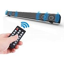 Zyoda TV Sound Bar 31.4-inch 40 Watt 2.0 Channel Soundbar Instant Home Theater Streaming TV and Music Speaker (Wireless Bluetooth,AUX,TF Mode),Black
