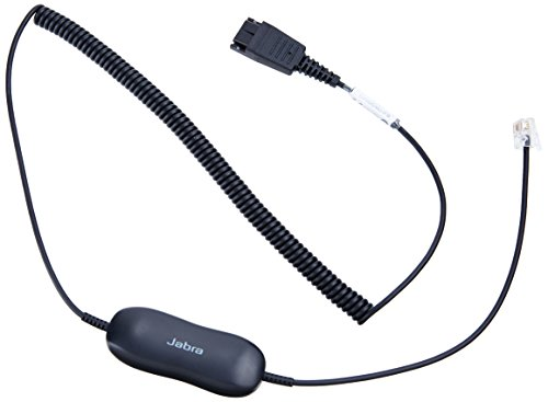 Qd Cable (Jabra GN1216 SmartCord - Coiled Headset Cable for Avaya Deskphones)