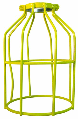Prime Wire & Cable LSCD1500 Dipped Metal Replacement Cages for Temporary Light Strings, Yellow