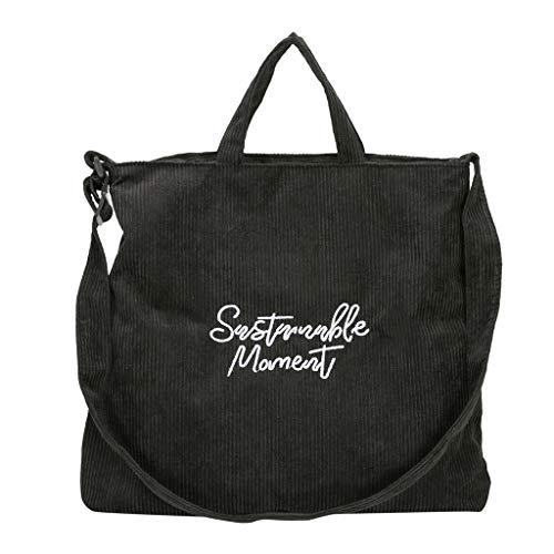 Rakkiss Womens Crossbody Bag Fashion Corduroy Shoulder Bag Solid Wild Large Capacity Messender Bag Tote Bucket