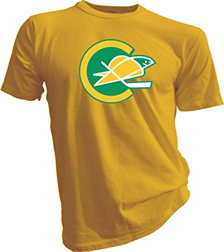 New Hockey Men Tee T Shirt Size 2x-large Defunct NHL KHL Wild California Golden Seals Vintage and Retro Look Clothing or ()