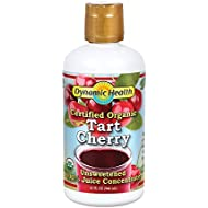Dynamic Health Organic Tart Cherry Juice Concentrate | USDA Certified & 100% Pure | 32 Servings