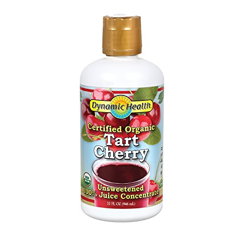 Dynamic Health Organic Tart Cherry Juice Concentrate | USDA Certified & 100% Pure | 32 Servings (Best Tart Cherry Juice For Arthritis)