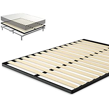 Zinus Easy Assembly Wood Slat 1.6 Inch Bunkie Board / Mattress Foundation / Bed Slat Replacement, Queen