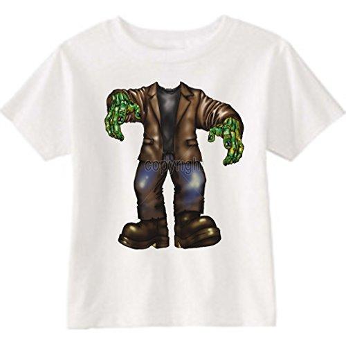 U.S. Custom Kids Frankenstein Toddler T-Shirt, 2T T-Shirt, White ()