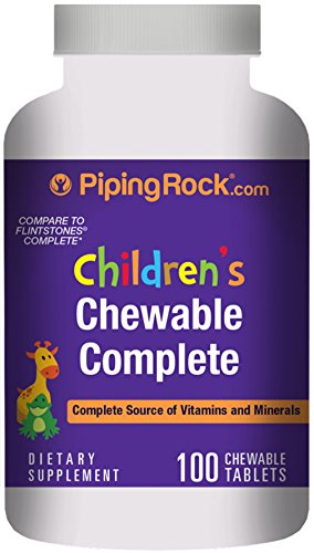 Piping Rock Children's Chewable Complete Vitamins & Minerals 100 Tablets Dietary Supplement