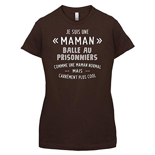 une maman normal balle aux prisonniers - Femme T-Shirt - Maron Foncé - XL