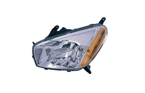 Toyota RAV4 (non-Sport Package) Replacement Headlight Assembly (Chrome Bezel) - 1-Pair - Bezel Headlight Assembly
