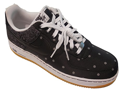 Nike Men's Air Force 1 07 Lv8, Black/black-mtllc Silver-white, 12 M Us