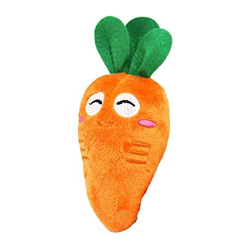 Fansi 1 juguete de peluche para masticar para perros, diseño de zanahoria con forma de zanahoria, juguete para amolar…