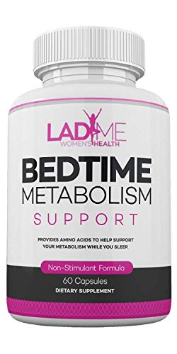 Bedtime Metabolism Support Nocturnal Weight Management Supplement with Rich Amino Acid & Stimulant Free Support Metabolism While You Sleep Especially for Women Made in The USA by Ladyme – 30 Capsules