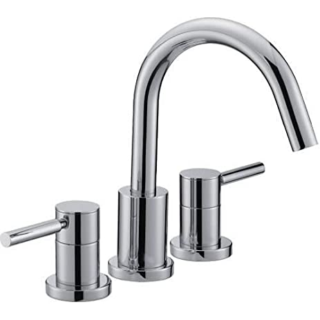 mirabelle mired3rt edenton deck mounted roman tub faucet trim with metal lever h polished chrome