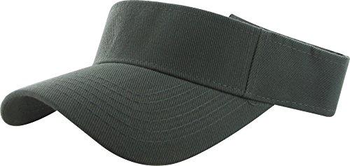DealStock Plain Men Women Sport Sun Visor One Size Adjustable Cap (29+ Colors) Dark -