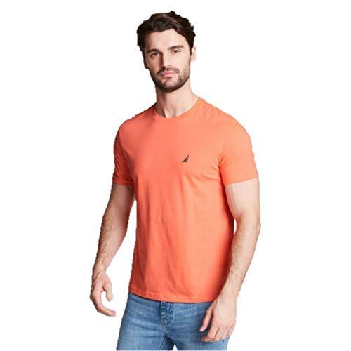 Nautica Short Sleeve Solid Crew Neck T-Shirt, Orange, Medium (Nautica Brillen)