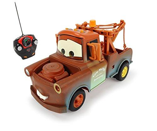Dickie-Spielzeug-203089502-Disney-Cars-2-Coche-por-control-remoto-diseo-Mate-Importado-de-Alemania