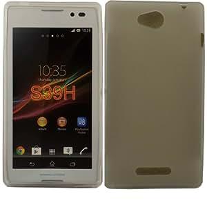 Gel Cubrir Caso Piel Para Sony Xperia C / Off White