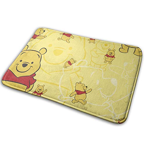 Welcome Door Mat Winnie Pooh Indoor Outdoor Entrance Rug Floor Mats Shoe Scraper 15.7