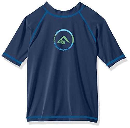 ys' Haywire UPF 50+ Sun Protective Rashguard Swim Shirt, Navy, 5T ()