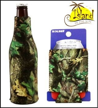 (2) Realtree Hardwoods Can & Bottle Koozies Coolers