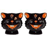 Sourpuss Cats Salt & Pepper Shakers Black
