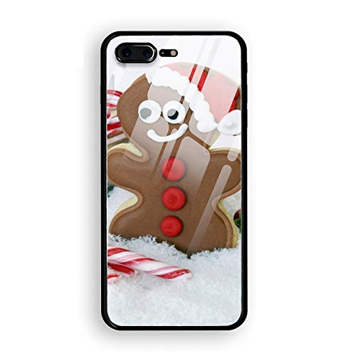 iPhone 7/8 Plus Case Holiday Christmas Cookie Gingerbread Candy Cane Sled Printed Hard PC Durable Rubber Protective Case Cover for iPhone 8 Plus/iPhone 7 Plus 5.5 inch