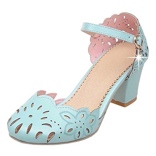 de Mujer Para Blue Coolcept Light Zapatos Ancho Tacon 5qRxUX4