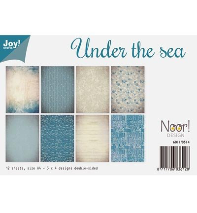 Joy! Crafts Cardstock Double Sided A4 - Under The Sea - 12 Sheets, Blue -