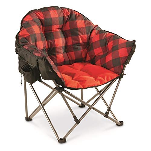 Guide Gear Oversized Club Camp Chair, 500-lb. Capacity, Red Plaid (Person Club)