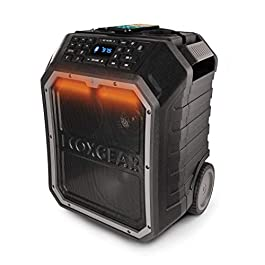 ECOXGEAR EcoBoulder MAX Rugged Waterproof Floating Portable Bluetooth Wireless 120-Watt Smart Speaker with Party Lights