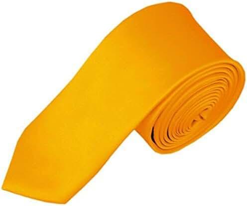 FuzzyGreen Mens Tie, Mens Solid Color 2inch Skinny Neck Tie