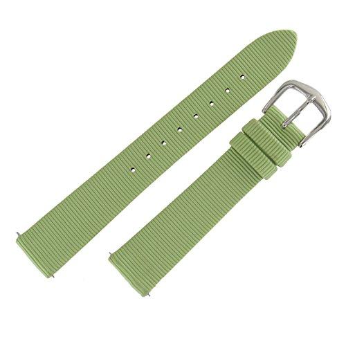mm Lime Green Grosgrain Ribbon Speedstrap Watch Band (Grosgrain Ribbon Watch Band)