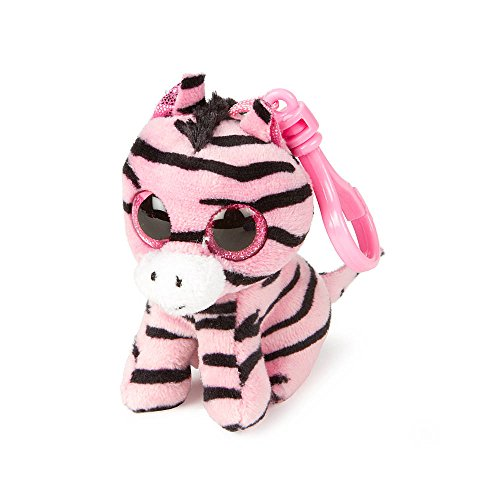"""Claire's Accessories Ty Beanie Boos Zoey the Pink Zebra Plush Clip On - 3 1/2"""""""