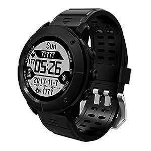 OOLIFENG Reloj Running con GPS, GPS para Ciclismo Velocímetros con Incorporado Pulsómetros, Barómetro, Brújula, etc. para Al Aire Libre Aventurero,Black: ...