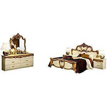 Amazon.com: ESF Barocco Traditional Ivory Veneer with Gold Accents ...