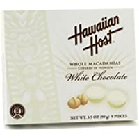 Hawaiian Host Macadamia Nuts White Chocolate 3.5 oz. Gift Box