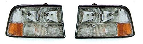 98 99 00 01 02 03 04 GMC Sonoma Headlight (Without Foglight) Pair Set 98-01 GMC Jimmy 98-01 Olds Bravada Driver and Passenger Headlamp (Gmc Headlamp Jimmy Headlight)