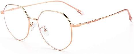 XUNMAIFXI Gafas con Filtro de luz Azul Ordenador Moda Metal Gafas ...