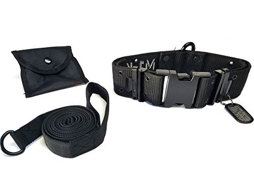 Black adjustable 18\ Black adjustable 18\ M1-K9 Big Military Dog Collar (Black Black) by M1-K9