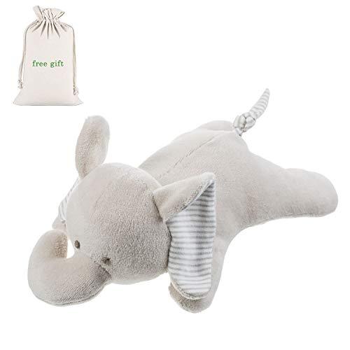 Benaturalbaby Organic Cotton Elephant Stuffed Animal, Plush Toys for Baby, Infant Boys, Girls, 9.4 inches