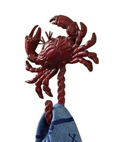 Park Designs Coastal Nautical Red Crab Metal Single Hook Tow