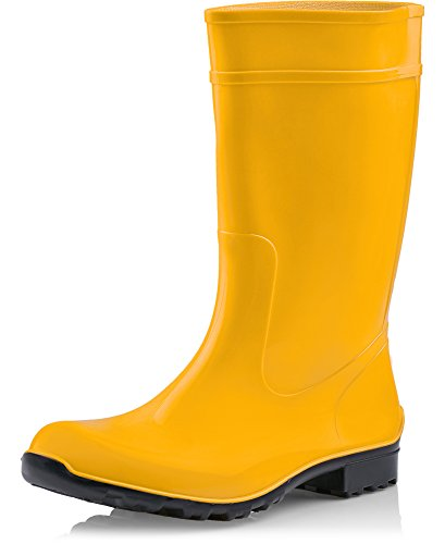 Seguridad LA Amarillo Negro de Zapatos Agua Antideslizantes 967 Mujer Botas Ladeheid de nTYqRpqS